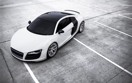 Preview wallpaper Audi R8 white car top view