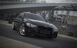 Preview wallpaper BMW F30 black car front view