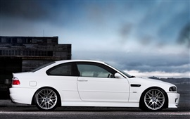 BMW M3 E46 coche blanco vista lateral