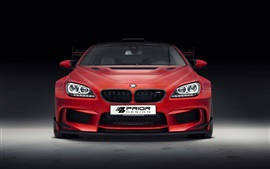 Preview wallpaper BMW M6 F13 red car front view