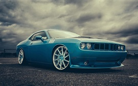 Preview wallpaper Dodge Challenger blue car