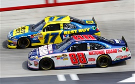 Preview wallpaper Ford, Chevrolet, Nascar, race car, sports, speed