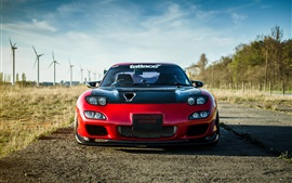 Preview wallpaper Mazda RX-6 red sport car front view