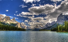 Preview wallpaper National Park Canada, sky, sea, mountains