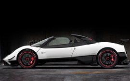 Preview wallpaper Pagani Zonda roadster, white supercar side view