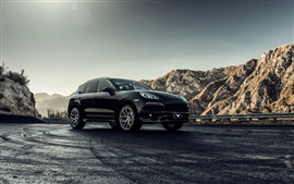 Preview wallpaper Porsche Cayenne 2013 black car