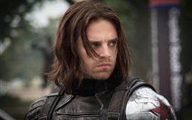 Sebastian Stan, el Capitán América: The Winter Soldier, Bucky Barnes
