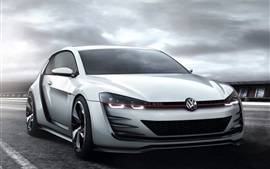 Preview wallpaper Volkswagen Golf GTI white car