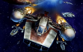 Preview wallpaper Y-Wing starfighter, Star Wars, art pictures