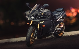 Preview wallpaper Yamaha YZF-R1 black motorcycle