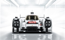 Preview wallpaper 2014 Porsche 919 Hybrid supercar front view