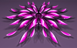 Preview wallpaper 3D purple flower petals