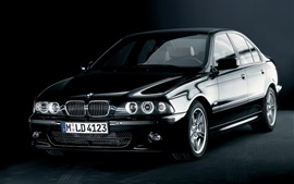 Preview wallpaper BMW 5 Series E39 black car