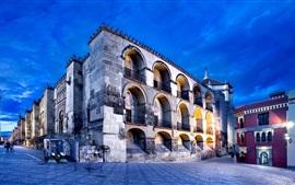 预览壁纸 科尔多瓦,安达卢西亚,西班牙,城市,街道,路灯,夜景