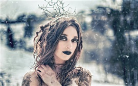 Preview wallpaper Creative picture, girl, a witch