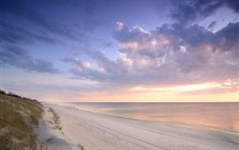 Preview wallpaper Curonian Spit, Lithuania, Baltic Sea, beach, sunset