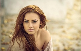 Aperçu fond d'écran Girl portrait, bokeh