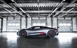 Preview wallpaper Jaguar C-X75 Hybrid, supercar prototype, side view