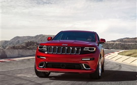 Jeep Grand Cherokee SRT coche rojo vista frontal