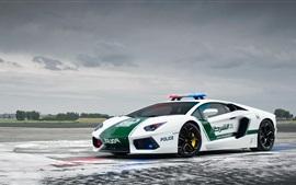 Lamborghini Aventador LP700-4, полицейская машина, Дубай