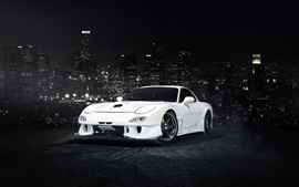Preview wallpaper Mazda RX-7 white car