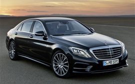 Preview wallpaper Mercedes-Benz S 350 black car