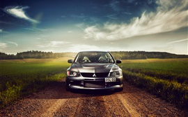 Preview wallpaper Mitsubishi Lancer car front view