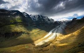 Natureza paisagem, montanhas, céu, nuvens