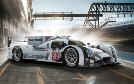 Preview wallpaper Porsche 919 Hybrid supercar 2014