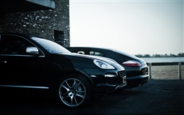 Preview wallpaper Porsche Cayenne Panamera black SUV car