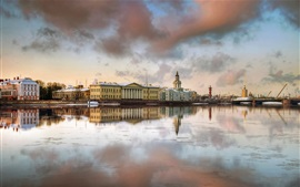 Preview wallpaper Saint-Petersburg, houses, river