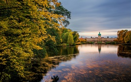 Preview wallpaper Schloss Charlottenburg, Berlin, Germany, lake, autumn, trees