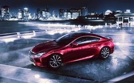 Aperçu fond d'écran 2014 Lexus supercar rouge
