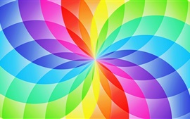 Preview wallpaper Abstract design, circle sector, flower, rainbow