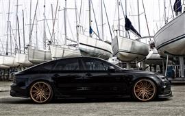 Audi S7 Hamana черный автомобиль вид сбоку
