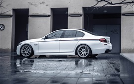 BMW F10 white car