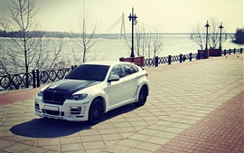 Preview wallpaper BMW X6 E72 Hamann white car
