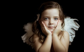 Preview wallpaper Beautiful little angel, girl, eyes