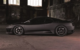 Preview wallpaper Ferrari F430 sports car, side view, matte black