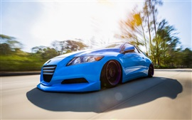 Preview wallpaper Honda CR-Z blue car front view