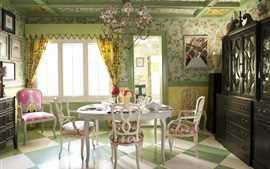 Preview wallpaper Interior design, home, villa, dining