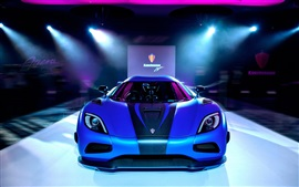 Preview wallpaper Koenigsegg agera, blue supercar