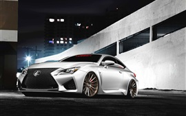 Preview wallpaper Lexus RC F white car front view