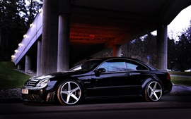 Mercedes-Benz CLK63 carro preto