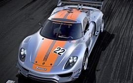 Aperçu fond d'écran Porsche 918 RSR Concept supercar vue de face