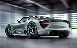 Preview wallpaper Porsche 918 Spyder concept supercar back view