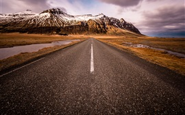 Preview wallpaper Scandinavia, South Iceland, road, mountains