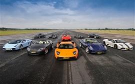 Суперкары, Lamborghini, Aston Martin, Ferrari