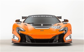 Preview wallpaper 2015 McLaren 650S GT3 orange supercar front view