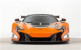 2015 McLaren 650S GT3 laranja frente supercar vista